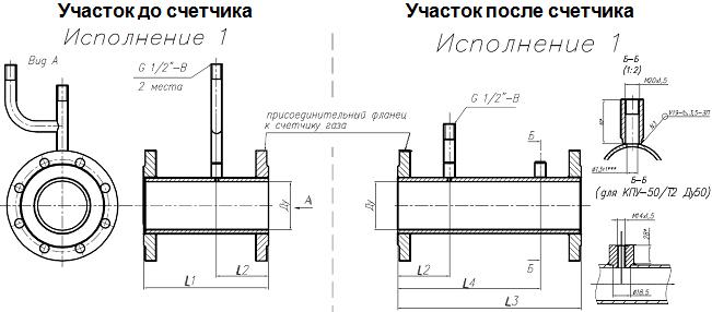 Комплект прямых участков КПУ-СГ-ЭК
